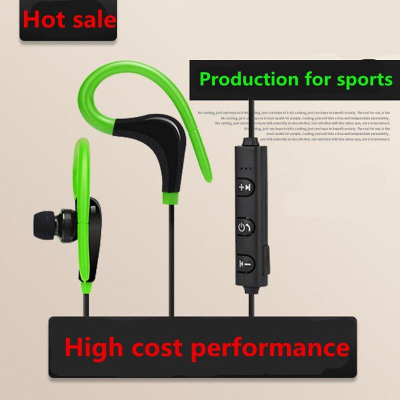 Oreille-Crochet Sans Fil Bluetooth Écouteur Casque avec Microphone Métal Sport Basse Lourde Casque Anti-Bruit Écouteurs Écouteur stéréo