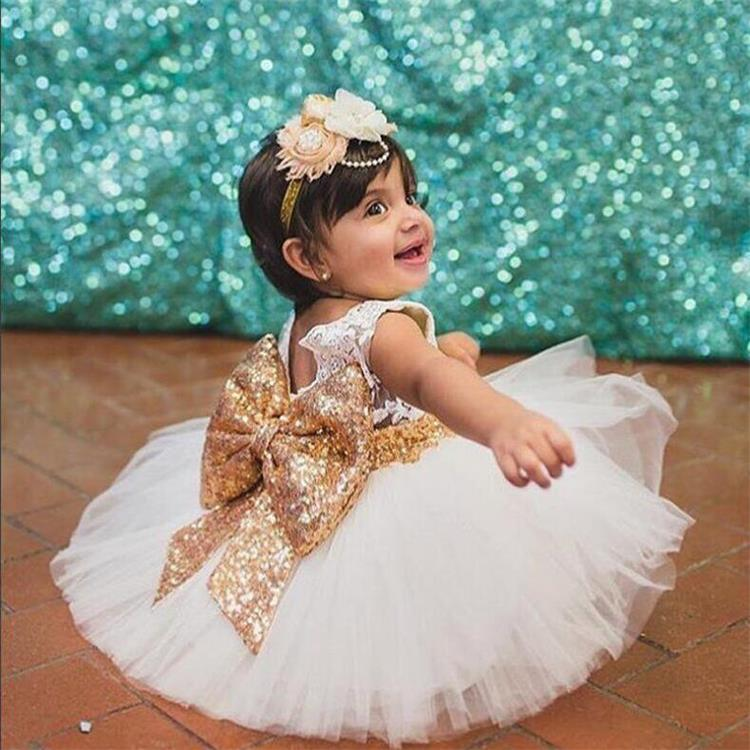 LZH Summer Baby Girls Dress Kids Sequins Bowknot Wedding Party Dresses Christmas Costume Girls Princess Dress For Girls Clothes 22
