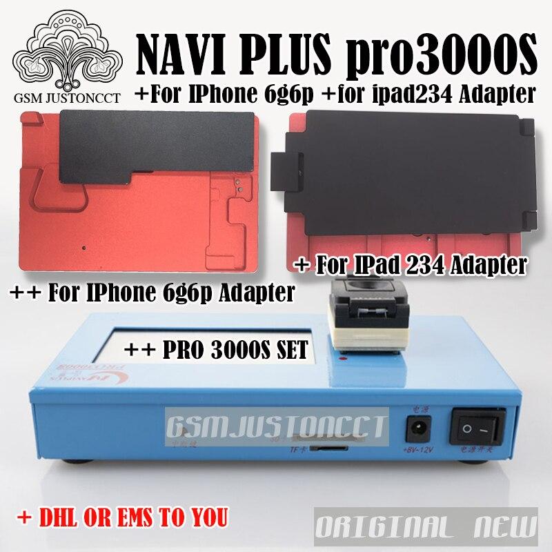 DHL TO Pro 3000S NAND Flash Programmer NAVIPLUS PRO3000S IP Box Chip Programmer 32bit+64BIT Repair Instrument For iPhone iPad