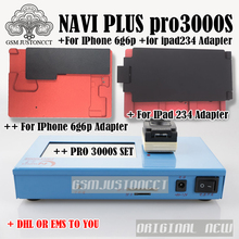 DHL TO Pro 3000S NAND Flash Programmer NAVIPLUS PRO3000S IP Box Chip Programmer 32bit+64BIT Repair Instrument For iPhone iPad fpc wire for lga52 lga60 socket for iphone ipad nand flash chip testing wholesale excellent quality