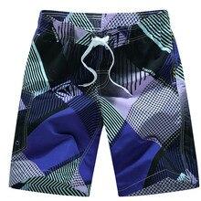 цены на Summer Men's Board Shorts Quick Dry Men Swim Shorts Surf Swimwear Beach Short Male Athletic Running Gym Short Man Bermuda  в интернет-магазинах