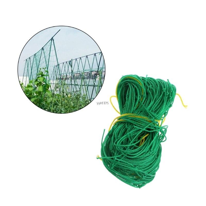 Hot Sale Garden Green Nylon Trellis Netting Support Climbing Bean Plant Nets Grow Fence YJ41