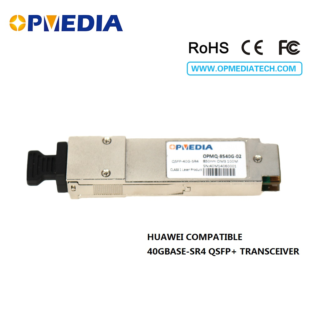 Free shipping!compatible with Huawei 40GBASE SR4 QSFP+ 850nm 100m Transceiver,40G QSFP+ SR4 DDM OM3 100m optical Module