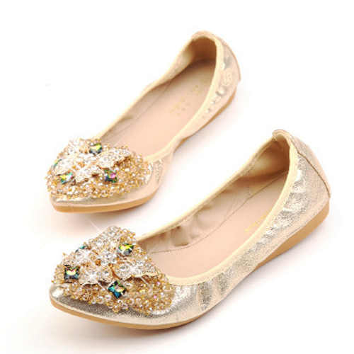31a5768e62 Plus Size 39 Women Flats Fashion Bling Butterfly Rhinestone Women Flat  Shoes Crystal Glitter Ballet Casual Flop Up Shoes Bow 45