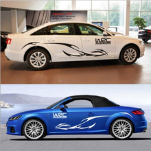 2pcs Car Stickers World Rally Racing Sports Decals Hood Door Personalized Body Auto Exterior Accessories
