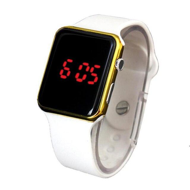 Venda quente Esporte Digital Watch Homens Mulheres Praça LED Relógio Silicone Relógio Eletrônico Relógios Casal Relógio relogio reloj digitais