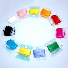 20 м шелковая вышивка/ шелковая нить/Спиральная вышивка шелковой нитью маленькие палочки ручной вышивки вышивка крестиком