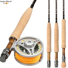 Fly Rod Combo 8.3/9FT Carbon Fiber Fly Fishing Rod 3/4 5/6 7/8WT Aluminum Fly Fishing Reel and Line