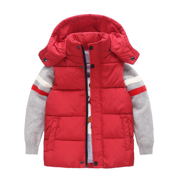 0253559da Winter Children s Hooded Sleeveless Vest For Boys Girls Thickened ...