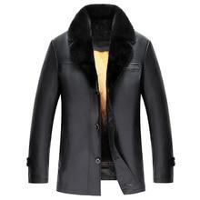Luxury Genuine Fur Outwear For Men Romovable Mink Fur Lined Parka Custom Men's Golden Mink Fur Lined Lambskin Coat (TJ09)