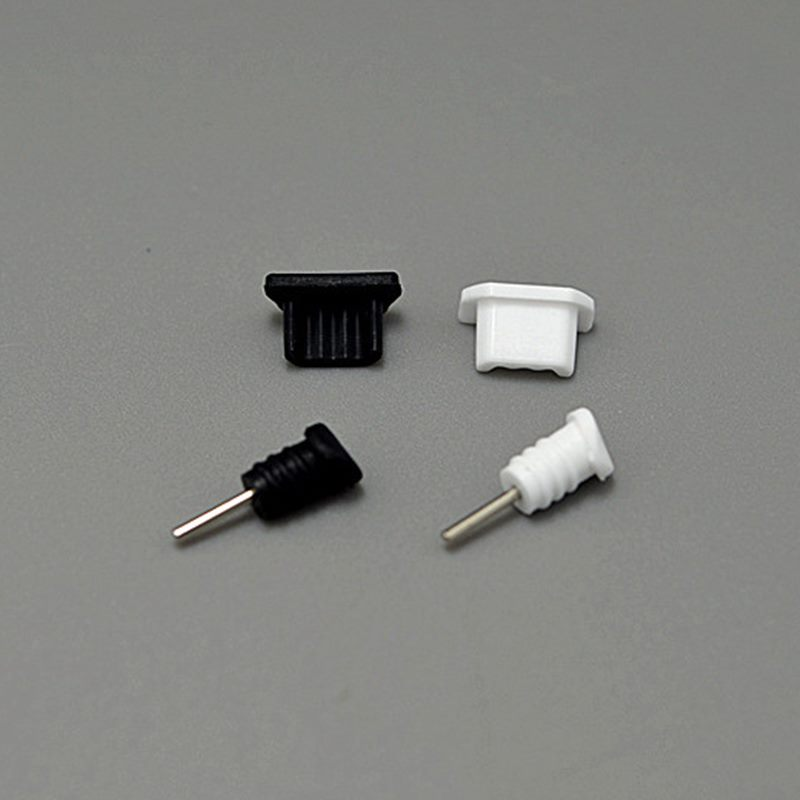 10Set(10white) Dust Proof Plugs 3.5mm Earphone Jack + Micro USB Charge Port Plug Cap For Samsung Xiaomi Android Phone