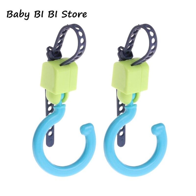 2 Teile/satz Baby Kinderwagen Haken Tragbare Pram Lagerung Tasche Haken Kinderwagen Zubehör