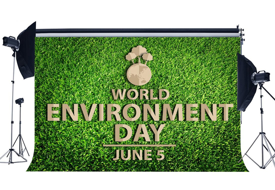 World Environment Day Backdrop 5th June Protect the Earth Backdrops Green Grass Meadow Nature Spring Background-in Photo Studio Accessories from Consumer Electronics