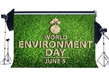 World Environment Day Backdrop 5th June Protect the Earth Backdrops Green Grass Meadow Nature Spring Background