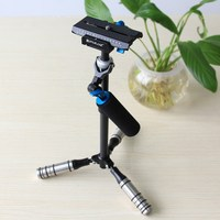 PULUZ Mini Handheld Stabilizer Carbon Fiber Steadicam For DSLR Video Camera Portable Light Steady Cam Better