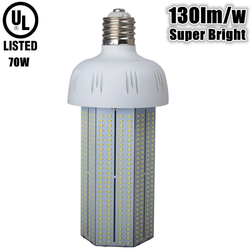UL DLC 130lm/w super bright led bulb e39 AC110v 220v 230v 240v 50/60hz E39 70W LED corn bulb replace 250W incandescent lamp