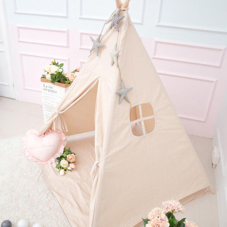 Princess Kids Teepee Play Carpa 100% algodón lienzo niños Tipi - Deportes y aire libre - foto 2