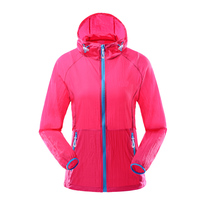 Women Sports Coats Light Thin Hooded Running Jackets Sunscreen Breathable Outdoors Soft Shell Clothing Fitness Jogging