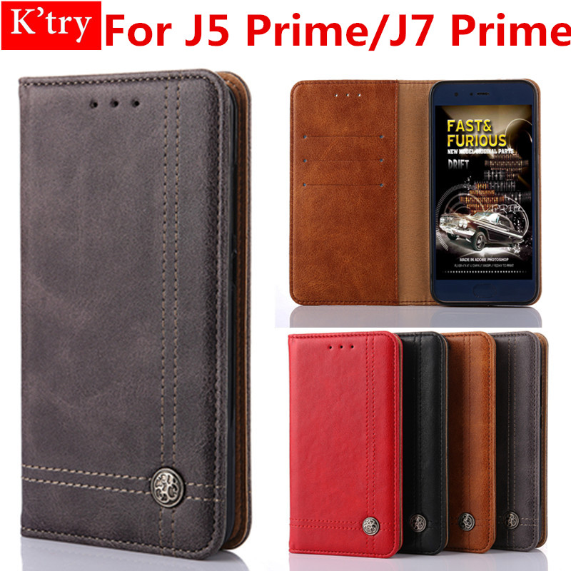 Luxury Lines Flip Case For Samsung Galaxy J5 Prime On5 2016 Leather Wallet Skin Protector Cover For Galaxy J7 Prime On7 2016