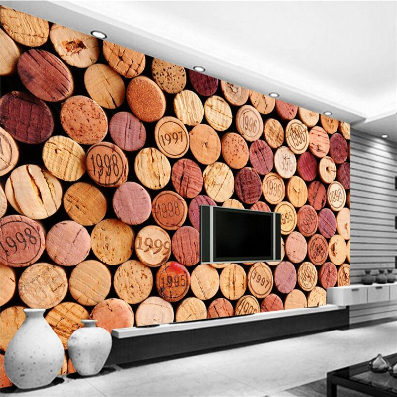 beibehang Custom 3d wallpaper wine bottle cork bar wall paper sofa living room bedroom tv backdrop wall home decor painting the custom 3d murals parks sunrises and sunsets trees heart grass nature wallpapers living room sofa tv wall bedroom wall paper