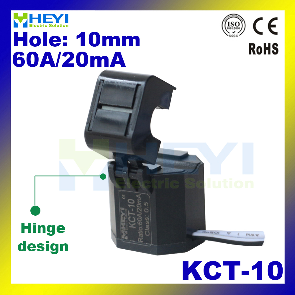 hight resolution of new hinge designed split core ct kct 10 open type current transformer 60a 20ma