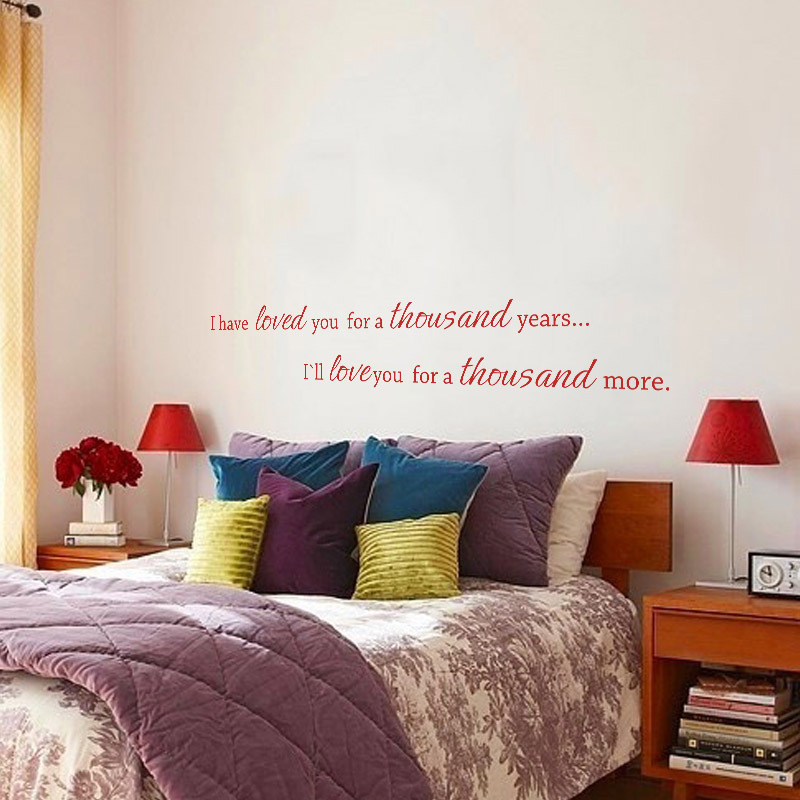 451f3d0118 I Have Loved You A Thousand Years Couple Bedroom Wall Quote Anniversary  Romantic Love you Wedding Decor 34