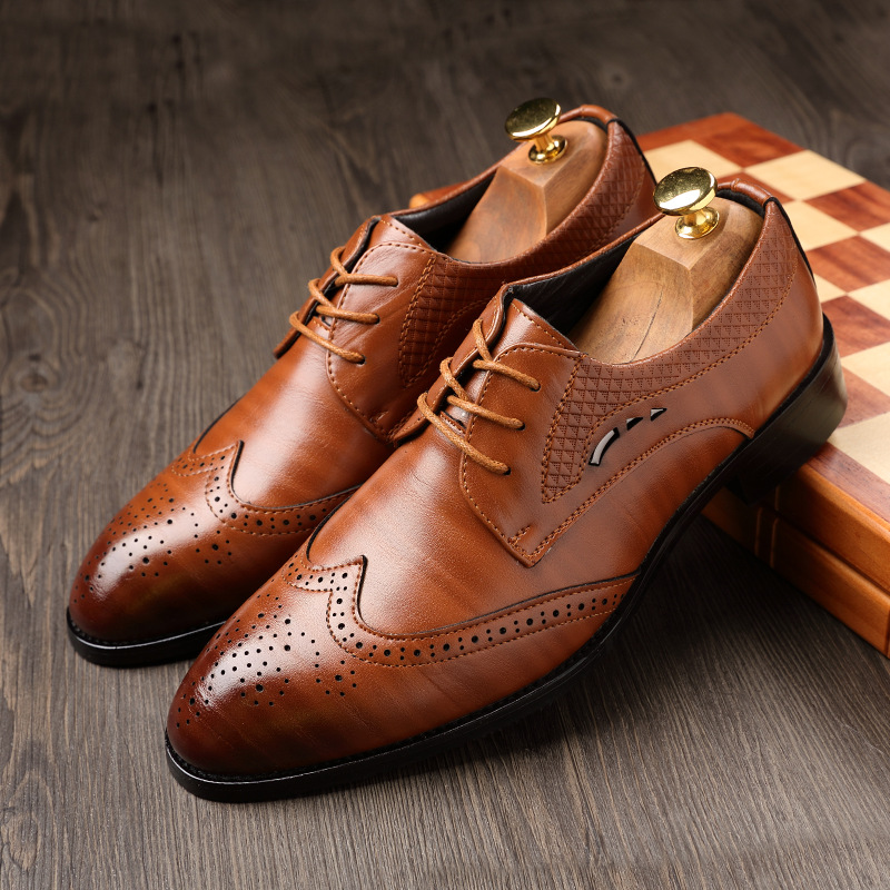 Formal Shoes Shoes Collection Here Full Grain Leather Oxfords Shoes Handmade Plus Size Flats Shoes Fashion Oxford Business Shoes Mesh Wedding Dress Shoes To Have Both The Quality Of Tenacity And Hardness