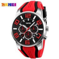 Męskie zegarki mody zegarek kwarcowy na co dzień mężczyźni wodoodporny stoper Sport zegarki na rękę Relogio Masculino Top marka luksusowe SKMEI