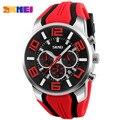 Mens relojes de moda reloj de cuarzo ocasional de los hombres a prueba de agua cronómetro relojes deportivos relogio masculino lujo superior de la marca skmei