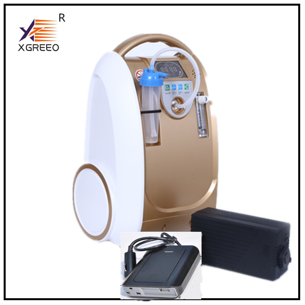XGREEO Battery operate Portable Oxygen Generator Concentrator battery/travel/home use oxygen concentrator medical oxygen concentrator for respiratory diseases 110v 220v oxygen generator copd oxygen supplying machine
