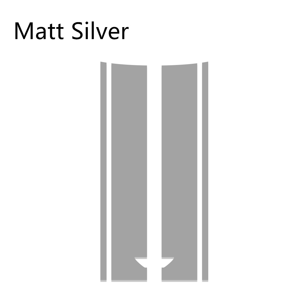 Автомобильный стиль, наклейка на голову, капот, наклейки в полоску для MINI Cooper S One, земляк, Clubman R55 R56 R60 R61 F54 F55 F56 F60, аксессуары - Название цвета: Matte Silver