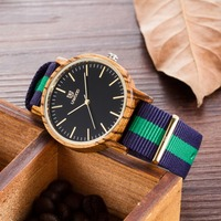 2018 Newest japanese miyota 2035 movement wristwatches fashion casual bamboo wooden watche sport dress business watch gift sales