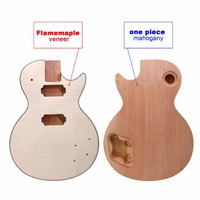 New LP electric Guitar body Paulownia Wood weight only MAHOGANY MADE and maple top