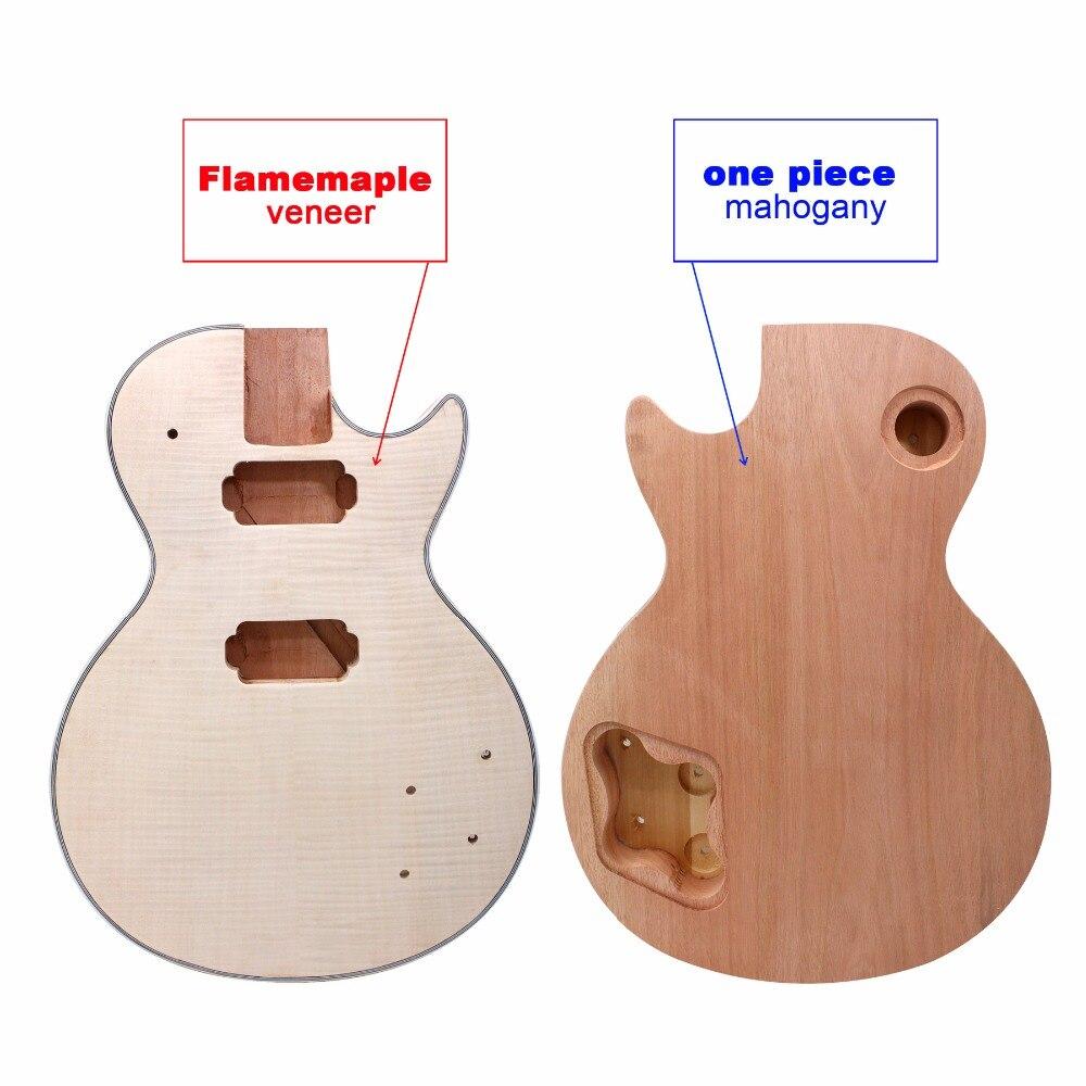Nouveau corps de guitare électrique LP Paulownia poids du bois uniquement en acajou et dessus en érable
