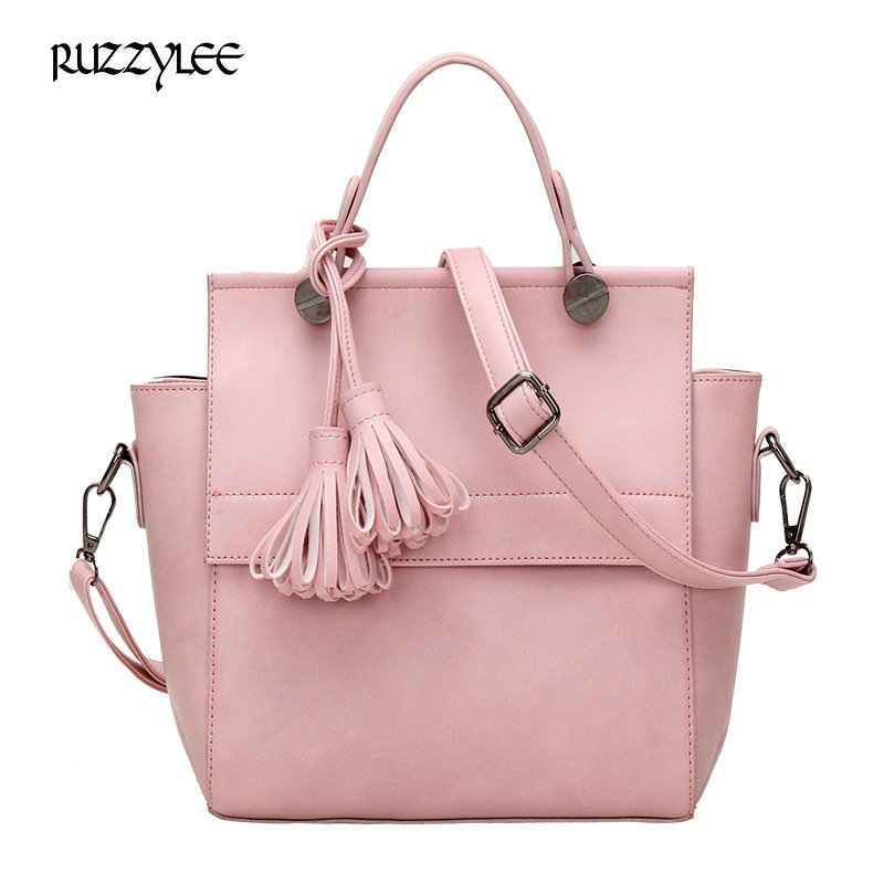 ФОТО  New Women Leather Handbags for Woman Fashion Designer Bucket Vintage Shoulder Bags Women Luxury Messenger Bag Cossbody bags