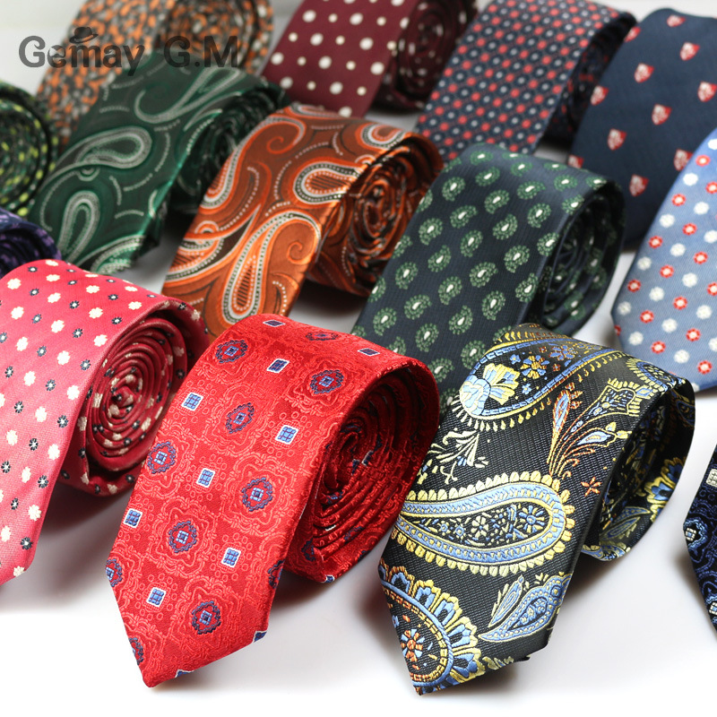 Nauja madinga oficiali kaklo kaklaraištis vestuvėms Klasikinis dryžuotas žakardo vestuvių kaklaraištis vyrams Neckwear aksesuarai