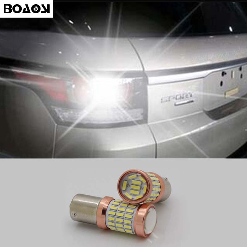 BOAOSI 1x Canbus 1156 LED Reverse Lights P21W 60SMD Car LED Back Up Rear Lamp For Land Rover Discovery 3 Range Rover Freelander руководящий насос range rover land rover 4 0 4 6 1999 2002 p38 oem qvb000050