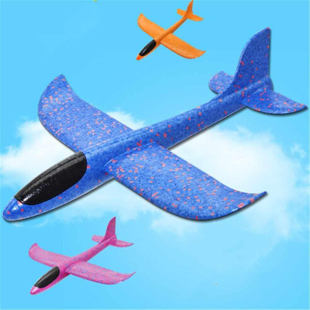 b26ad9f3e3 Una pieza de mano lanzamiento lanzar aviones planeador espuma inercial EPP  avión juguete niños avión diversión