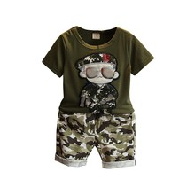2pcs Baby Boys girls Clothes sets Summer Cotton Baby Clothing Set Baby Clothes Short Sleeve Animal T-shirt+short Pants 2pcs baby girl set cotton t shirt baby girl clothes girls clothing sets short sleeve skirts casual 2pcs girls suits