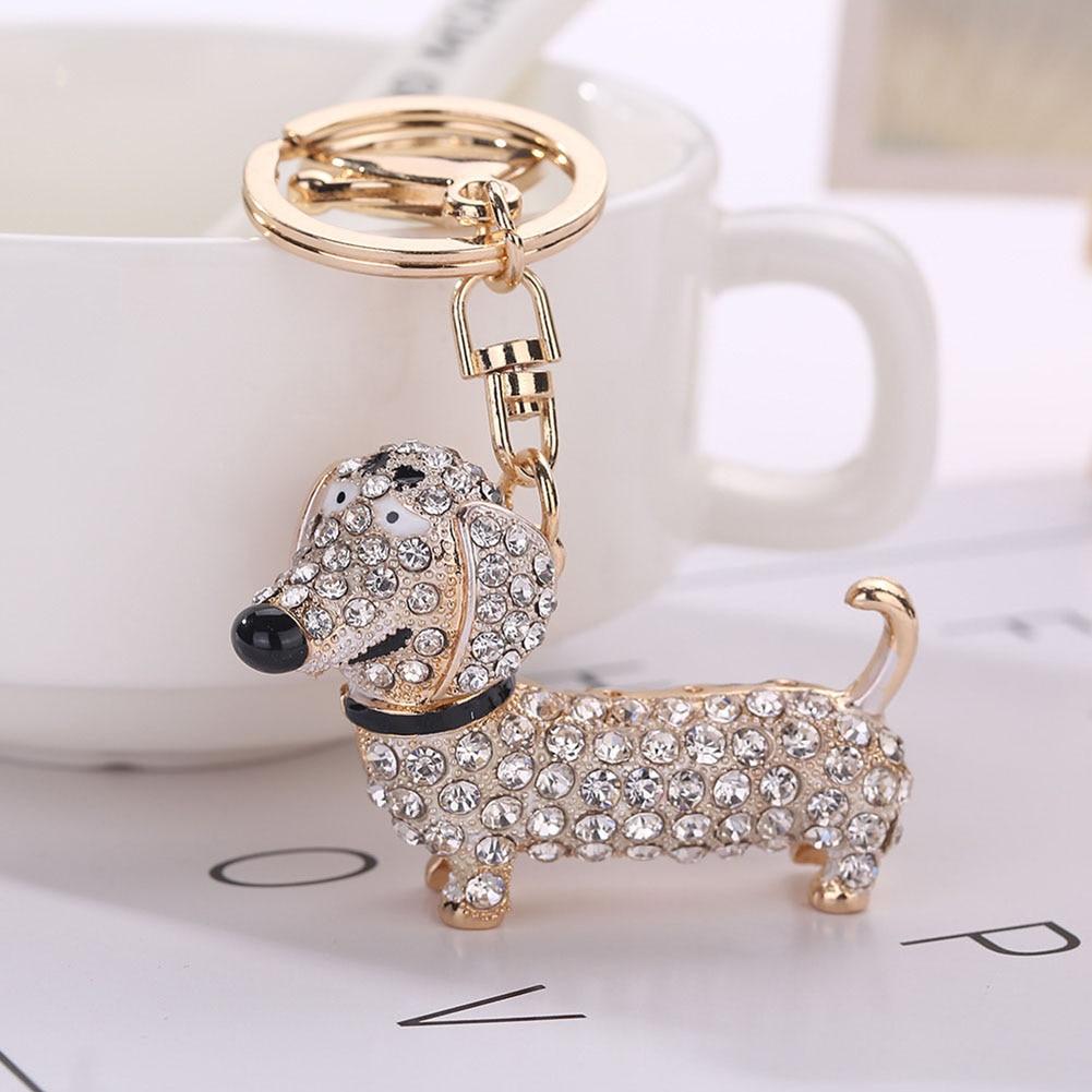 Fashion Dog Dachshund Keychain Bag Charm Pendant Keys Holder Keyring Jewelry For Women Girl Gift Keychain Jewelry New цены