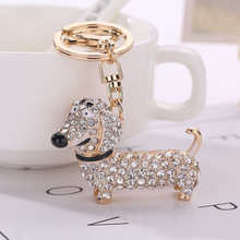 Fashion Dog Dachshund Keychain Bag Charm Pendant Keys Holder Keyring Jewelry For Women Girl Gift Keychain Jewelry New