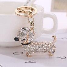New Fashion Dog Dachshund Keychain Bag Charm Pendant Keys Holder Keyring Jewelry For Women Girl Gift