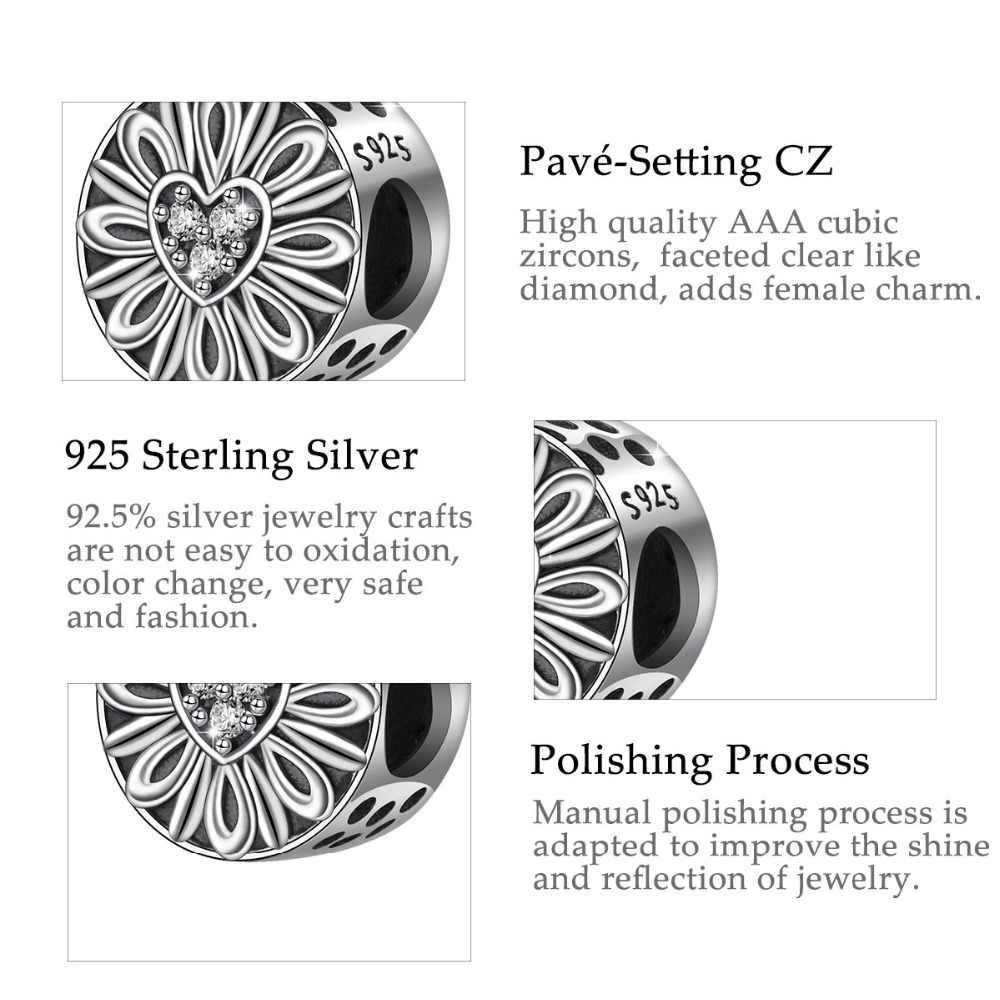 Melek Arayan 2019 Yeni High-end Moda 925 Ayar Gümüş Göz Kamaştırıcı CZ Kalp Boncuk Takı Yapımı Için Charm Bilezik parçaları