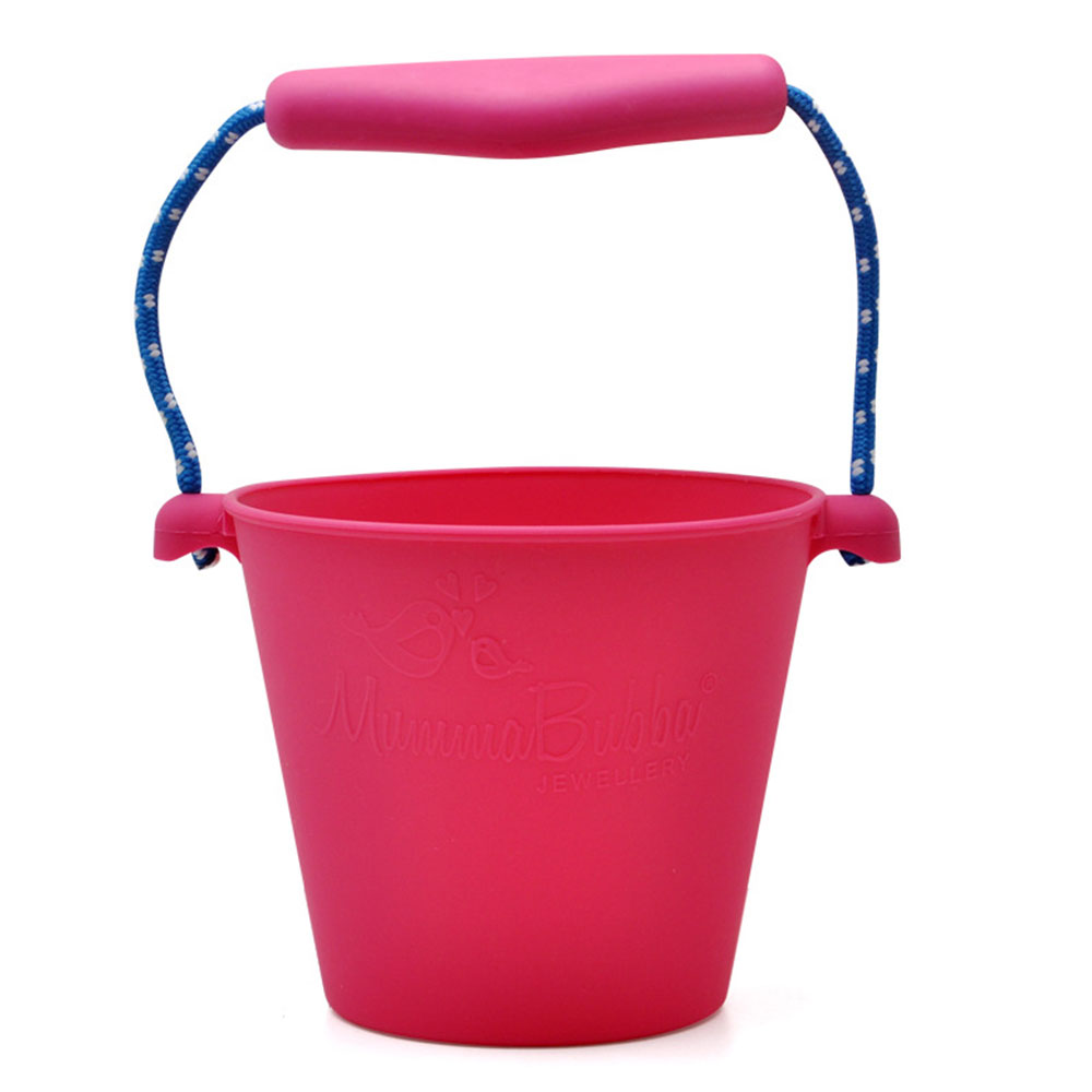 Пляжный набор игрушек для детей силиконовые складные Ручные игры песочный баррель детские игрушки для малышей душевая Ванна игрушка песочные водяные игрушки - Цвет: red