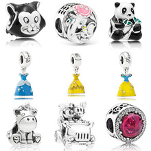 4eaf271f9 2019 Spring New Authentic 925 Silver Dumbo & Mrs Jumbo Charm Micky Minnie  Fit Pandora bracelet · 9 Colors Available