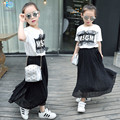 baby clothes Girls 2016 new summer Clothing for girls T-shirt suit veil children's clothing Net veil suit kids clothes girls 20#