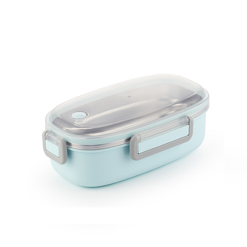 TUUTH Cute Lunch Box Stainless Steel Dinnerware Food Storage Container Children Kids School Office Portable Bento Box B5