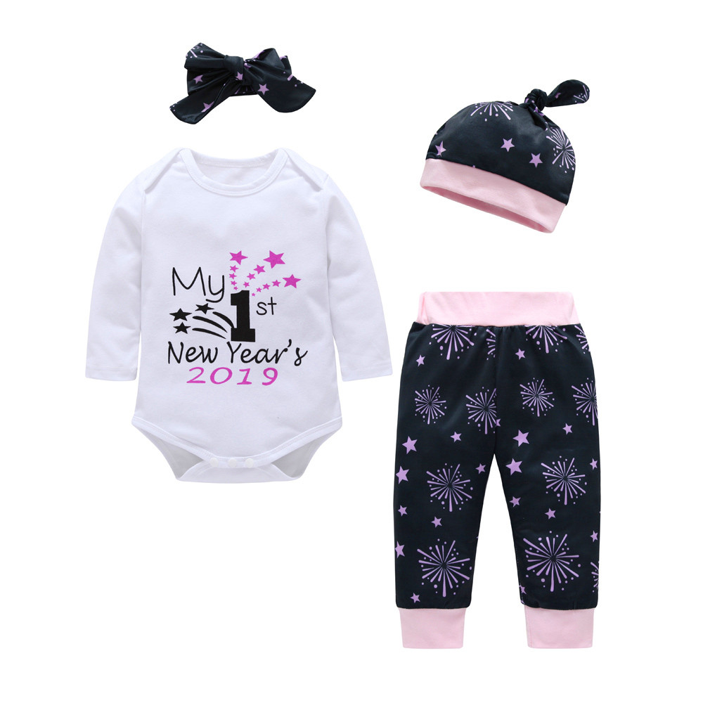 Newborn Baby Girl Watercolor Heart Print Romper+Headband Bodysuit Outfit Clothes