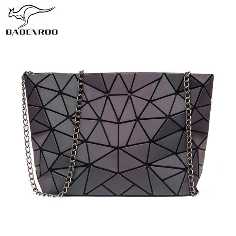 Badenroo Brands Luminous Bag Geometric Irregular Chain Women Shoulder Messenger Bags Noctilucent Female Crossbody Bag Bolsas Sac
