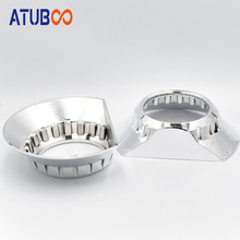 2pcs/Lot 3 Hid Projector Lens Shroud Koito Q5 Cover Big Cut Section Chrome Mask E46-R headlight Shell car styling